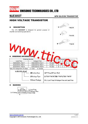 mje3055t_15 pdf下载及第1页内容在线浏览