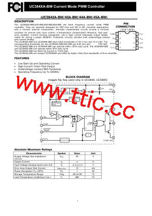 uc3843a-bw pdf资料第1页详细信息
